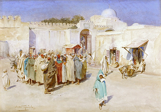 A Souk At Kairouan, Tunisia