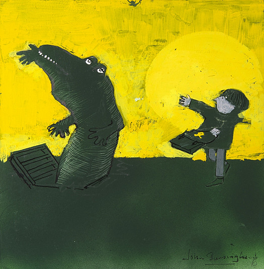 He Threw a Glove Into the Air and the Crocodile Snapped At the Glove and Let Go of the Satchel