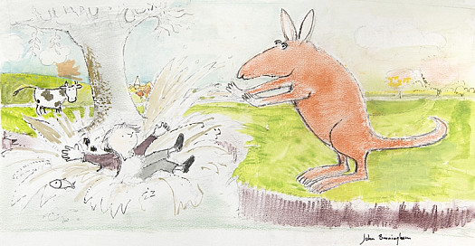 The Kangaroo Pushed John Patrick Norman Mchennessy Into the Water