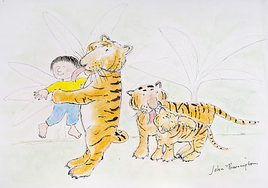 He Took the Young Tiger Back to Its Father and Mother, Who Were Very Pleased That Georgie Had Found Their Child
