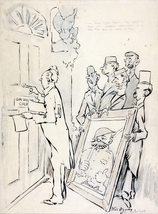 Sub Editors of the Popular Press, In Grateful Recognition of All That He Means to Them, About to Present a Handsome Chromo In Fumed Oak of yet Another War Masterpiece to the Royal Academician Who so Signally Outshines His Contemporaries In News Value