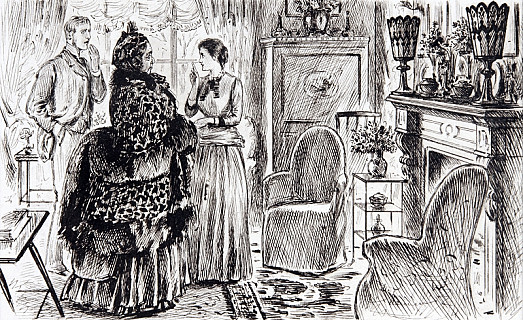 Social AgoniesYoung Husband. 'Yes, Aunty, I Flatter Myself the Room Looks Pretty Well – But, My Dear Ellen, Where, In the Name of Fortune, Did You Get Those Atrocious. Vases? – They're a Perfect Eyesore!'Young Wife. 'My Dear Fred! What Are You Saying! Why, Dear Aunty Gave Them to Us! They're Perfectly Lovely!'[Dear Ellen Has just Exhumed Them from a Cupboard, Where They Are Always Kept When Dear Aunty Is Not Expected.]