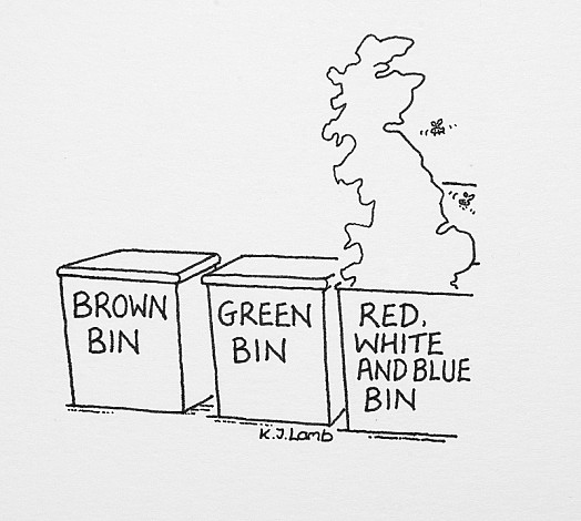Brown Bin – Green Bin – red, White and Blue Bin