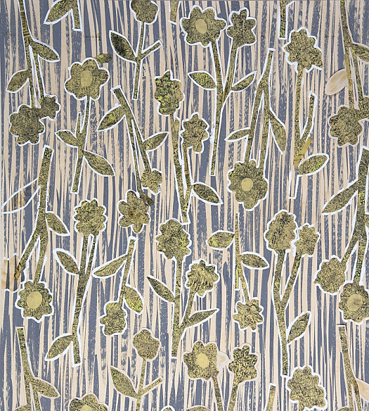 Textile Design: Flowers and Grass
