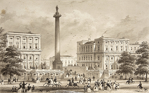 Carlton House Terrace & Duke of York's Column, from St James's Park