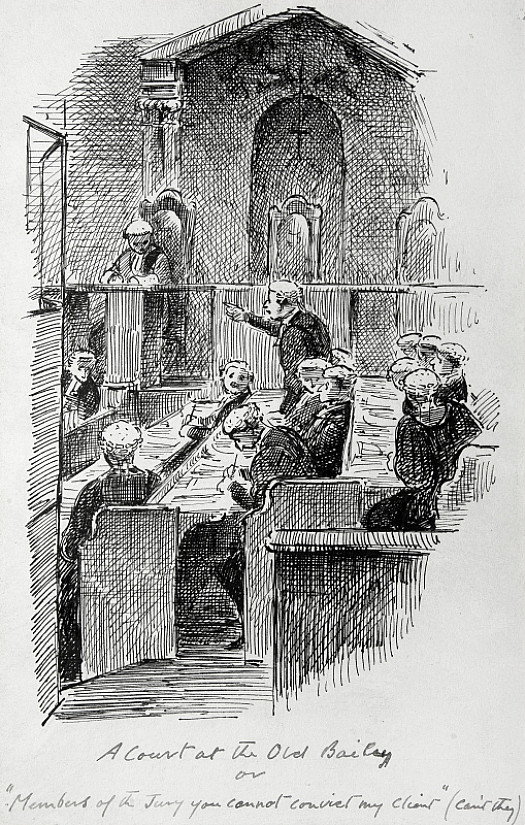 A Court At the Old Baileyor 'Members of the Jury, You Can't Convict My Client' (Can't They!)