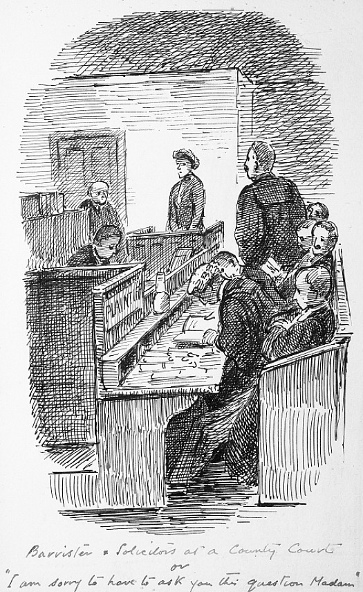 Barristers and Solicitors At a County Courtor 'I M Sorry to Have to Ask You this Question, Madam'
