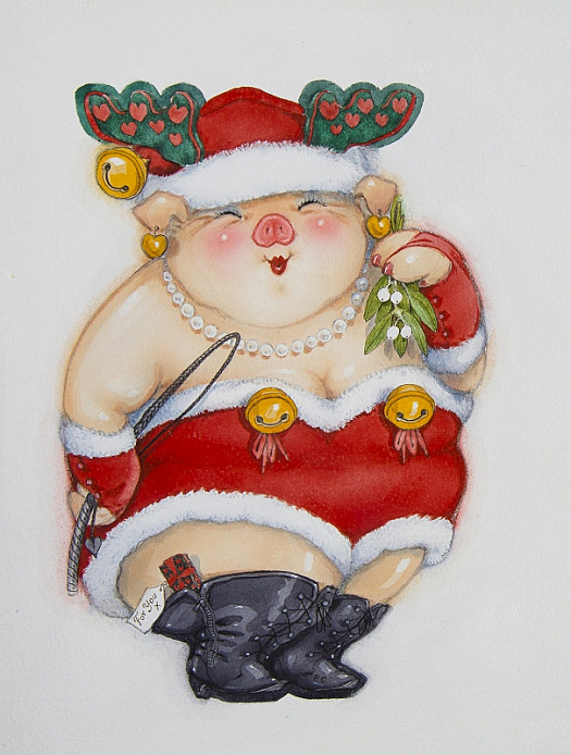 Cynthia Pig In Christmas Costume