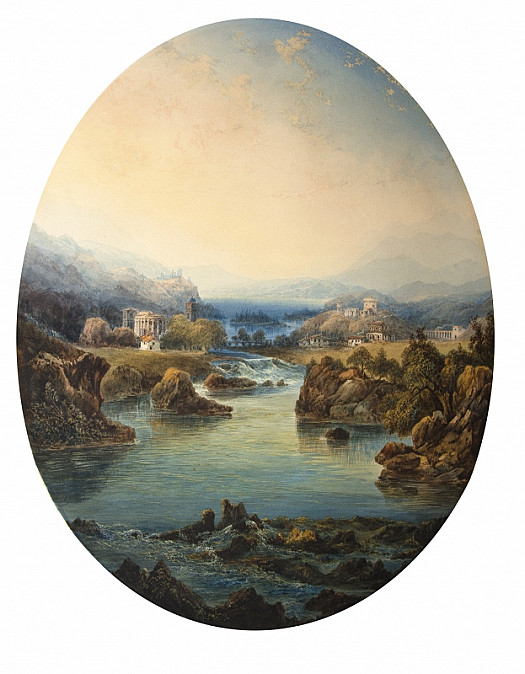 View Near the Lake of Celano, Naples