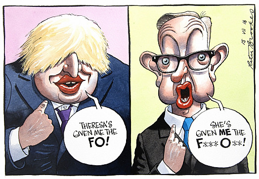 Theresa's Given Me the Fo!She's Given Me the F*** O***!