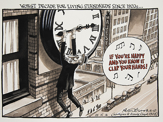 Worst Decade For Living Standards Since 1920s...