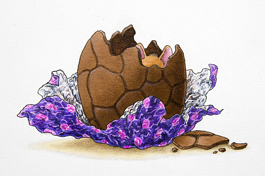 The Mice Really Like ... Chocolate! I Thought It Was the Fox Who Had Been Eating My Easter Egg. I Was Wrong!