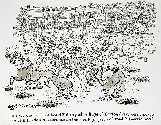 The Residents of the Beautiful English Village of Barton Avery Were Shocked by the Sudden Appearance On Their Village Green of Zombie Morrismen!