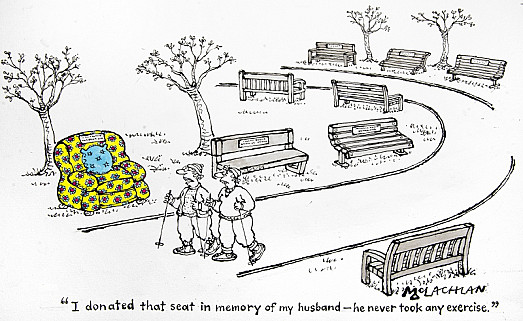 I Donated That Seat In Memory of My Husband – He Never Took Any Exercise
