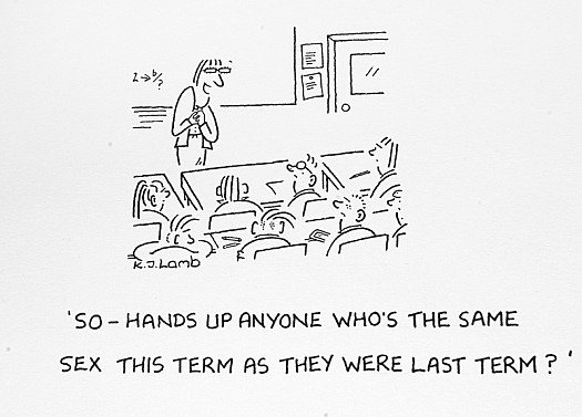 So – Hands Up Anyone Who's the Same Sex this Term as They Were Last Term?