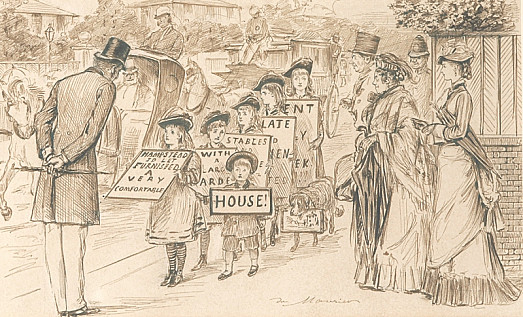 Youthful ResourceMr and Mrs Jones Have Broken It Gently to Their Children That There Will Be No Sea-Side this Year Unless They Let Their House.  the Juvenile Powers Avail Themselves of a Short Absence of Mr and Mrs Jones from Home, to Take the Case Into Their Own Hands.