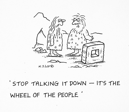 Stop Talking It Down – It's the Wheel of the People