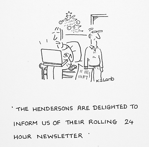 The Hendersons Are Delighted to Inform Us of Their Rolling 24 Hour Newsletter