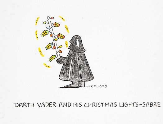 Darth Vader and His Christmas Lights-Sabre
