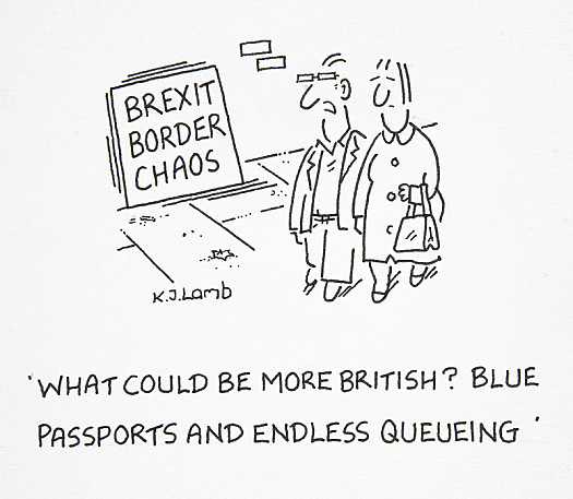 What Could Be More British? Blue Passports and Endless Queueing