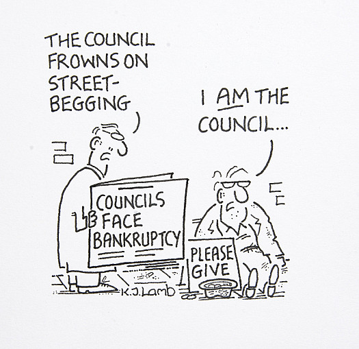 The Council Frowns On Street-Begging