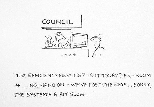 The Efficiency Meeting? Is It Today? Er - Room 4... No, Hang On - We've Lost