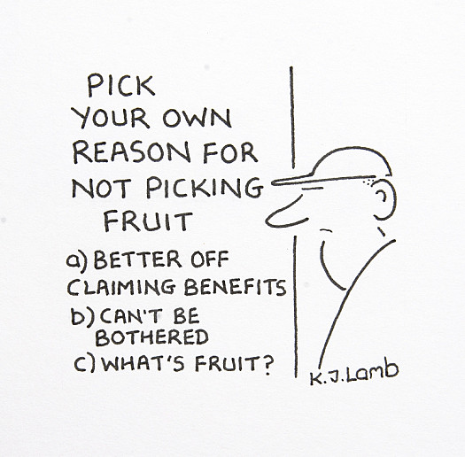 Pick Your Own Reason For Not Picking Fruit