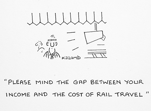 Please Mind the Gap Between Your Income and the Cost of Rail Travel
