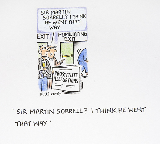 Sir Martin Sorrell? I Think He Went That Way