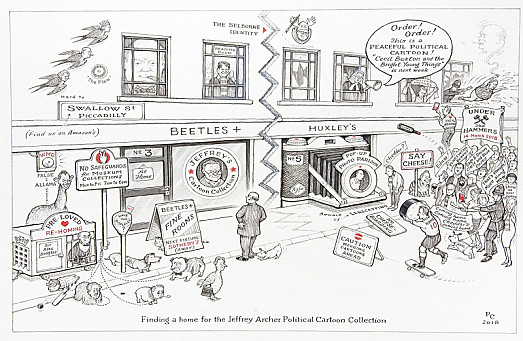 Finding a Home For the Jeffrey Archer Political Cartoon Collection