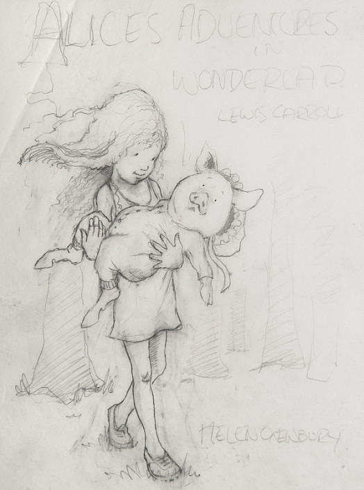 Alice's Adventures In Wonderland: Alice and the Piglet