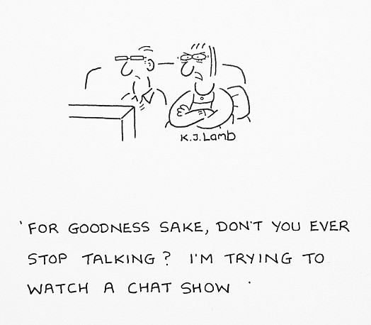 For Goodness Sake, Don't You Ever Stop Talking? I'm Trying to Watch a Chat Show