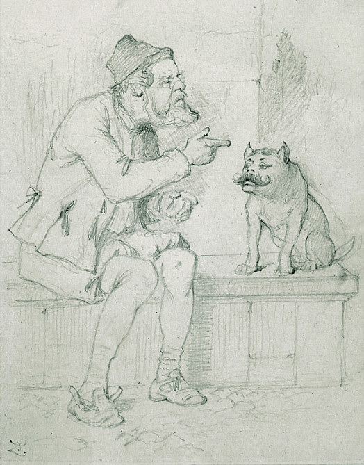 Launce and His Dog