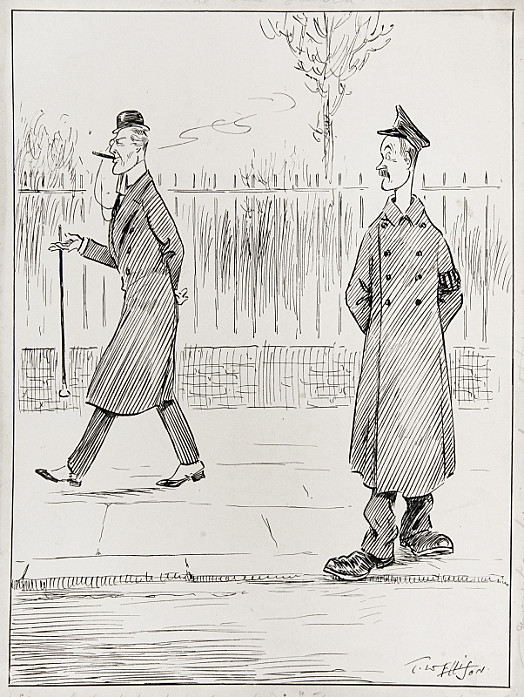 The Old GuardSpecial (On Duty At Westminster): 'There Goes a Chap I'd Like to See Join Up Again.'(the Special Constable Bill Was Read a Second Time Yesterday)