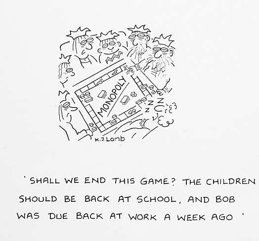 Shall We End this Game? the Children Should Be Back At School, and Bob Was Due Back At Work a Week Ago
