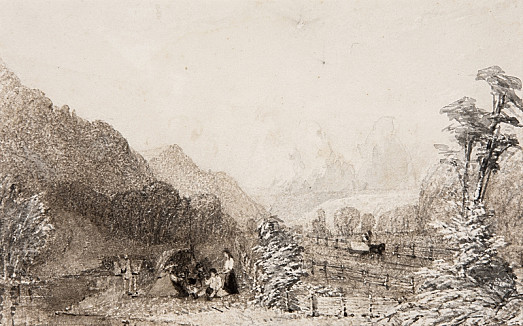 An Encampment by the Railway
