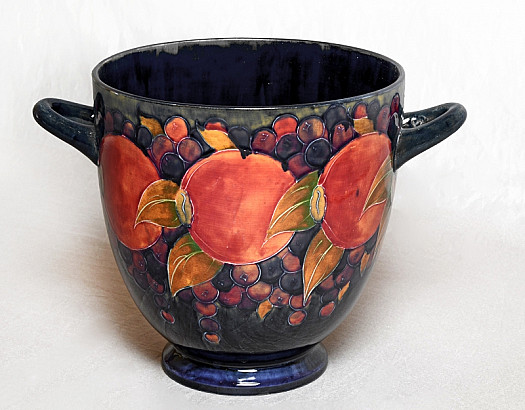 A Two Handled Vase Decorated In the Pomegranate Design