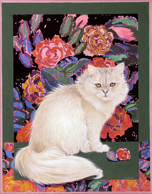 Rose's Cat and the Art Deco Roses