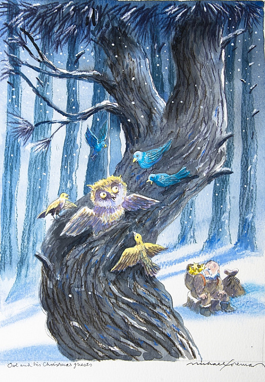 Owl and His Christmas Guests