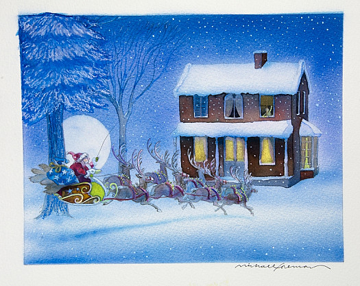 When, What to My Wondering Eyes Should Appear,but a Miniature Sleigh and Eight Tiny Reindeer