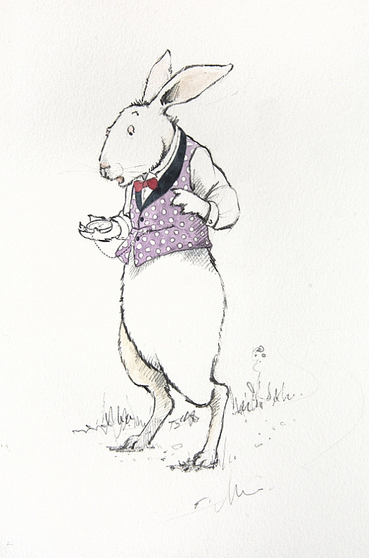But When the Rabbit Actually Took a Watch Out of Its Waistcoat-Pocket, and Looked At It, and then Hurried On, Alice Started to Her Feet