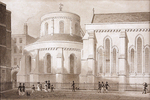 The Temple Church, as Restored