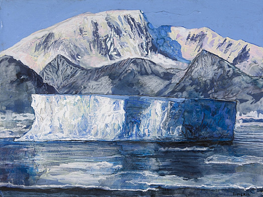 Study For Tabular Iceberg, Port Lockroy