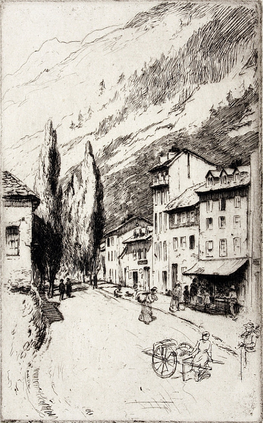 Tree-Lined Avenue In Swiss Village, C1911