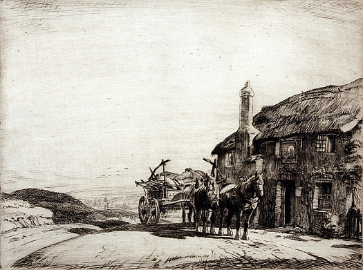 Waiting Outside the Inn I, C1913
