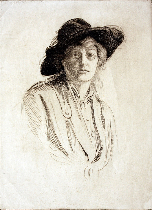Portrait of a Woman In a Black Hat, C1915