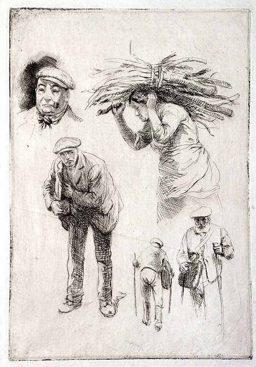 Studies of Country People, C1918