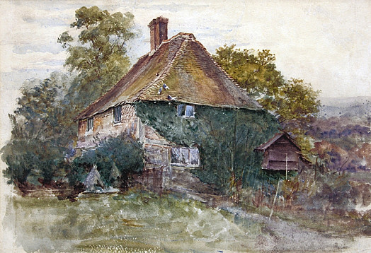 A Tile Hung Cottage