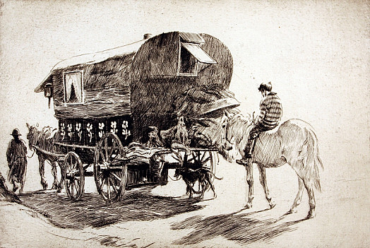 The Caravan Moves Off, C1927