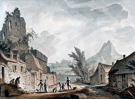 Village with a Ruined Tower